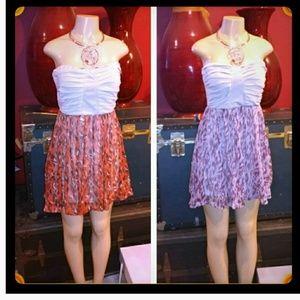 Strapless dress back zipper fully lined